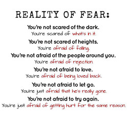 REALITY OF FEAR; 
