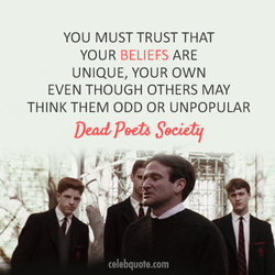 YOU MUST TRUST THAT 