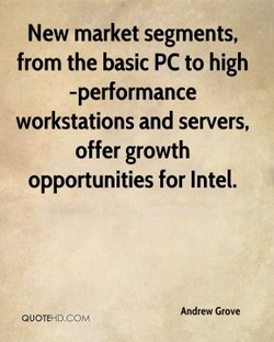 New market segments, 