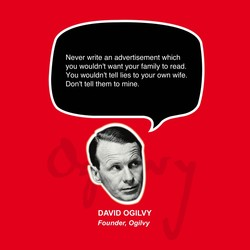 Never write an advertisement which 