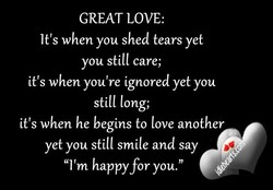 GREAT LOVE: 