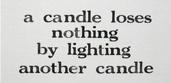 a candle loses 