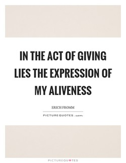 IN THE ACT OF GIVING 