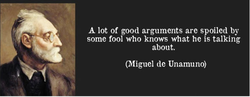A lot of good arguments are spoiled by