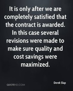 It is only after we are 