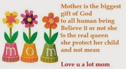 Mother is the biggest 