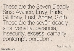 ' These are he Seven Deadly 