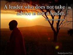 A leader who does nqt,take 