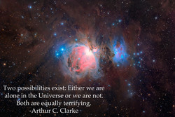 Two possibilities exist: Either we are 