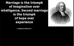 Marriage is the triumph 
