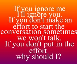 If vou ignore me 