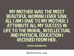 MY MOTHER WAS THE MOST 