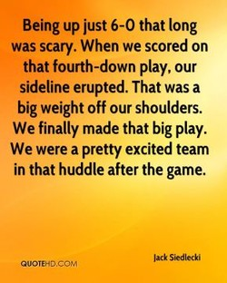 Being up just 6-0 that long 