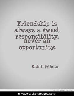 Friendship is 
