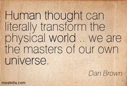Human thought can 