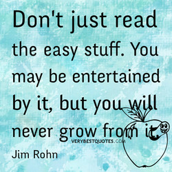 Don't just read 