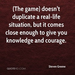 (The game) doesn't 