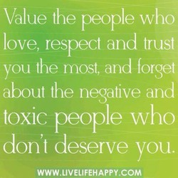 Value the people who 