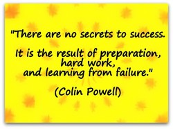'There are no secrets to success. 