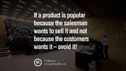 If a product is popular 