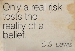 Only a real risk 