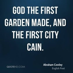 GOD THE FIRST 