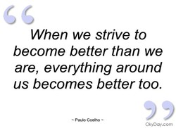 When we strive to 