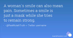 A woman's smile can also mean 