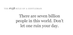 THE #158 RULE OF A GENTLEMAN: 