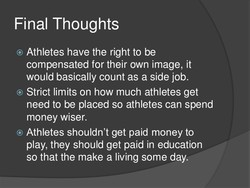 cons of college athletes being paid