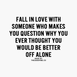 FALL IN LOVE WITH 