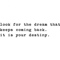 look for the dream that 