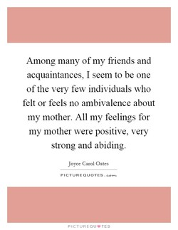 Among many of my friends and 