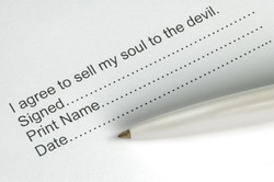 I agree to sell my soul to the devil. 