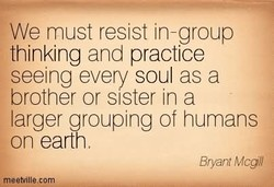 We must resist in-group 