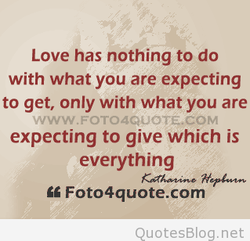 Love has nothing to do 