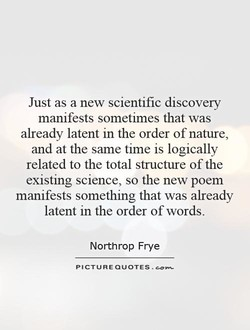 Just as a new scientific discovery 