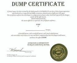 DUMP CERTIFICATE 