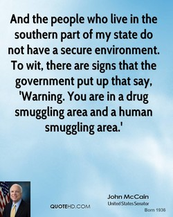 And the people who live in the 