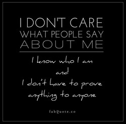 I DONIT CARE 