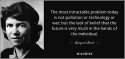 The most intractable problem today 