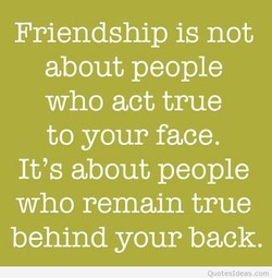 Friendship is not 
