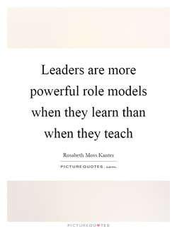 Leaders are more 