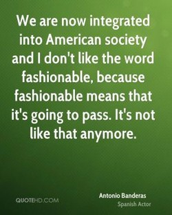 We are now integrated 
