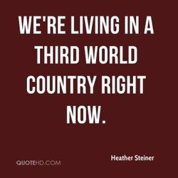 WE'RE LIVING IN A 