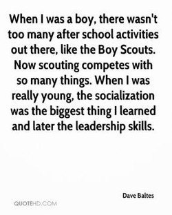 When I was a boy, there 
