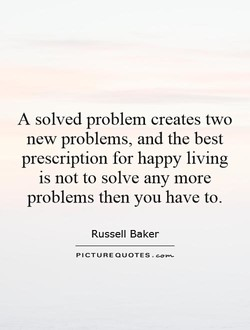 A solved problem creates two 