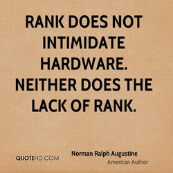 RANK DOES NOT 
