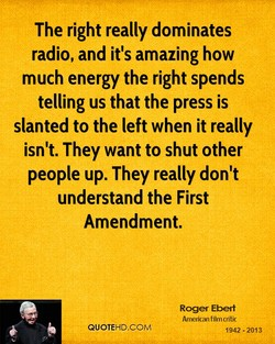 The right really dominates 