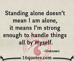 Standing alone doesn't 